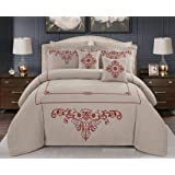 Double Comforter 8Pcs Set By Hours, King Size,Melody-03