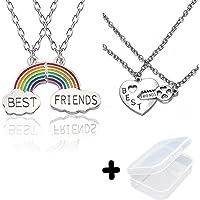 PPX 4 Nuvola Stitching Collana Migliori Amici, BFF Teenager per Sempre Il Regalo di Compleanno Amicizia Pz Arcobaleno…