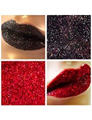 Glitter Lips - Duo Set 45 Moonlight & Cherry Lip Stick Lip Adhesive Long Lasting
