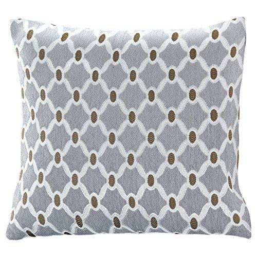 Berkeley Sofa (Just Contempo 45,7x 45,7cm schwarz Basket Weave Kissenhülle, Polyester, Silver Geometric Chenille, 22x22)