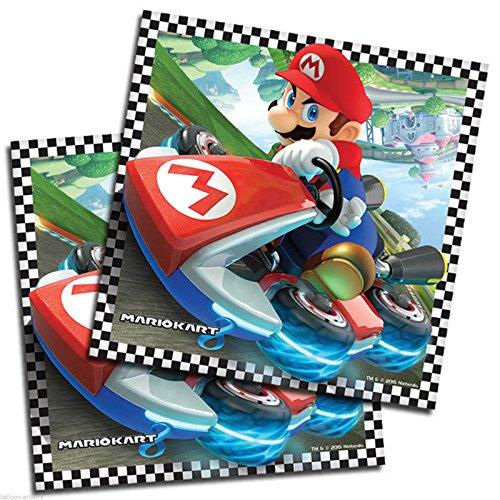 Super Mario MarioKart Serviettes 2 Ply Paquet de 16