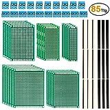 85tlg Lochrasterplatte Leiterplatte Set inkl. 25 x Lochrasterplatine+ 20 x 40 Pin Stecker + 20 x 2,54 mm Buchsenleiste (40Pin) + 20 x Leiterplatten Anschlussklemme
