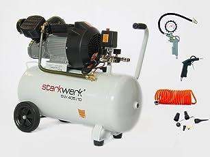 Starkwerk Druckluft Kompressor SW 405/10 270L/min inkl. 11 tlg. Set