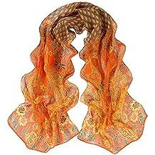 c53444df35dd MRULIC Echarpes foulards femme Écharpe en Mousseline de Soie imprimée Skull  Unisexe Foulard ornemental Cosy