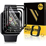 TOPACE 3 stuks beschermfolie compatibel met Apple Watch Series 6/SE/5/4 40 mm folie, plus uitlijningsframe, 10D-volledige afd