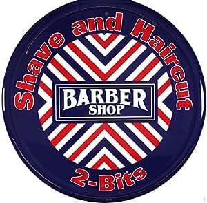Barber shop plaque usa neuf s1566 large 30 x 30 cm
