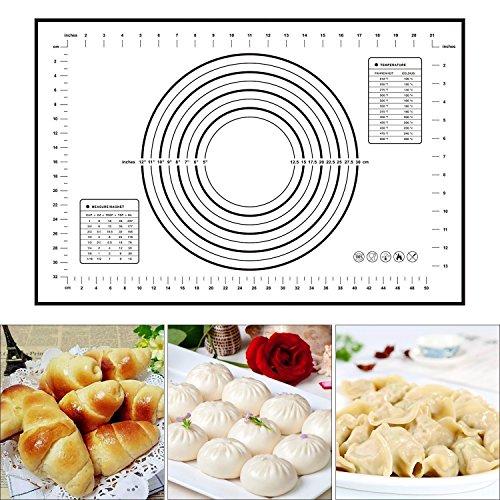 Glasfaser Antihaft-Silikon Backkuchen Gebäck Fondant-Matte, Plätzchen Kuchen, der Werkzeug herstellt (60 * 40CM)