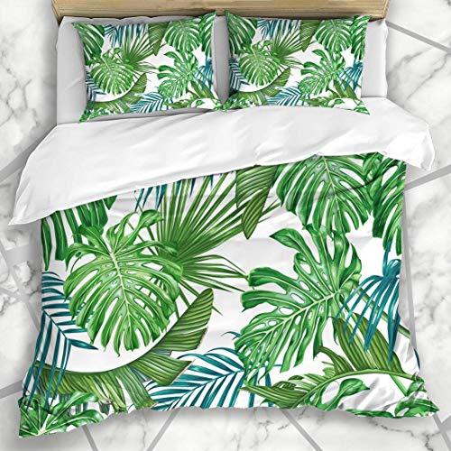Soefipok Conjuntos Funda nórdica Aloha Patrón Verde