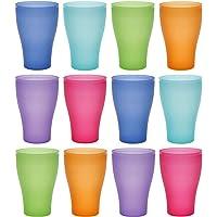 idea-station Neo Verres Plastique 12 Pieces, 450 ML, Couleur, réutilisables, gobelet, Verre, Tasse en Plastique…