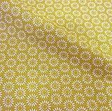 Stoff Meterware Baumwolle Blume gelb weiß gelb senf Sonne Kleiderstoff