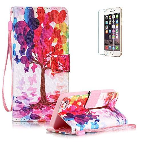custodia-iphone-5-5s-iphone-se-in-pellefunyye-albero-fantasia-disegni-elegante-libro-portafoglio-cov