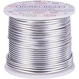 BENECREAT 30m Filo di Alluminio Anodizzato Che Fa Bordare Fili di Alluminio per Mestiere Design Gioiello(2mm - Argento)
