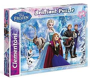 Disney Frozen Puzzle Efecto Diamante 104 Piezas, Miscelanea (Clementoni 201273)