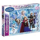 Frozen - Puzzle, 104 piezas, efecto diamante (Clementoni 201273)