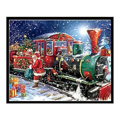 Little Finger DIY Santa Claus Diamant Gemälde Kreuz Stickerei Weihnachten Home Decor 1, 2#, Two size (Kit Ornament Santa)