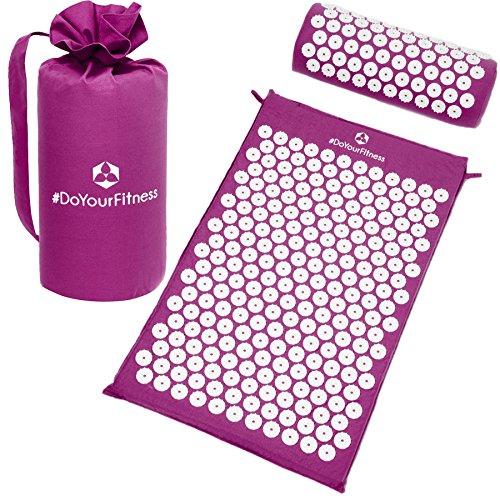 Akupressur-Set »Jimuta« / Tasche + Matte + Kissen / Akupressur- und Massagematte zur effektiven Lockerung und Lösung von Verspannungen / violett