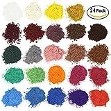 Soap Dye - Kosmetik Mica Puder - Glimmerpulver Pigmente für Badebombe - Soap Making Colorant - 24 Farben(5g) - Lidschatten, Blush, Nail Art, Harz Schmuck. -
