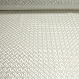 Stoff PVC Kunstleder Raute perlmutt glänzend Pyramide Leder Skai geprägt