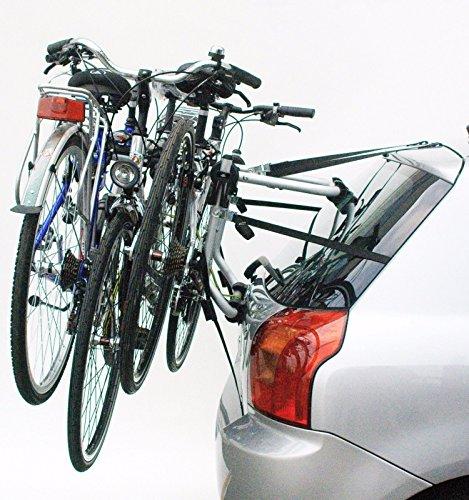 Onogal - Portabiciclette posteriore da auto, omologato, con capacità per 3 biciclette, mod. 6248