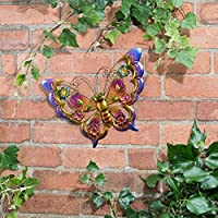 Metallic Butterfly Wall Art with Jewels decoration will brighten up your garden - Butterfly (Purple) from Scotrade