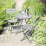 Garden Pleasure 3tlg. Balkon Set Garten Sitzgruppe Tisch Stühle Gartengarnitur