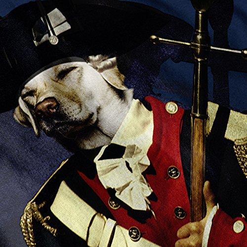 Hund solider Armee Komisch Pflicht Schlaf Damen Schwarz S-2XL Muskelshirt | Wellcoda Marine