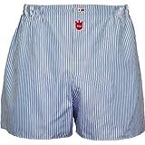 PM Boxershorts, Exklusive Premium Herren-Unterwäsche aus reiner Baumwolle mit geknöpften Eingriff und Vordereinsatz aus Baumwolljersey