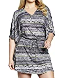 Womens Simply Yours Beach Dress in Mono Print