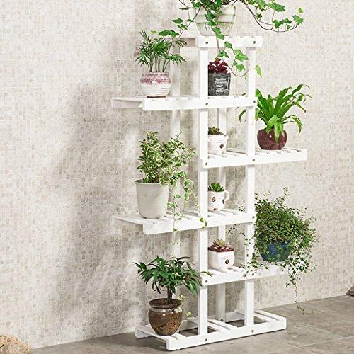 Miluce 5 tier di rampicante di fiori in legno massiccio asimmetrico, rack per vaso da fiori per vaso da giardino, sala da pranzo multifunzione (3 colori opzionali) (colore : c)