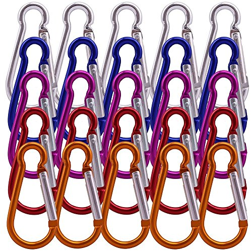 iumkarabiner Kürbis Form Clip Snap Hook für Spielzeug Briefpapier Handtaschen Schmuck Handwerk trockene Kleidung Socke ()