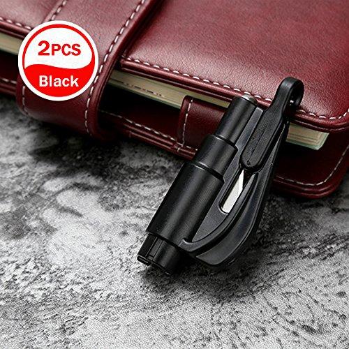 Hao Kaisen Auto Notfall Rettung Escape Tool Keychain, Das Rettungswerkzeug als Schlüsselanhänger (Schwarz)