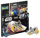 Revell Modellbausatz Star Wars Anakin's Jedi Starfighter im Maßstab 1:58, Level 3, originalgetreue Nachbildung mit vielen Details, Model Set mit Basiszubehör, einfaches Kleben und Bemalen, 63606