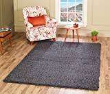 A2Z RUG SOFT SUPER THICK SHAGGY RUGS Dark Grey 120X170 CM -3.94X5.58 FT AVAILABLE IN MANY COLOURS AND SIZES AREA RUGS