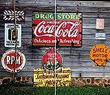 Herdabdeckplatten Abdeckplatten für Induktion Keramik Kochfeld gehärtetem Glas Schneidebrett Küchen Spritzschutz Ceranfeldabdeckung, 2 x 30x52cm, Vintage, 2er Set -