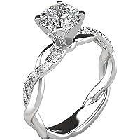 LJHH Anelli Donna Argento 925 Regolabili Anello Donna Anniversario Promessa Fidanzamento Anello Diamante Simulato…