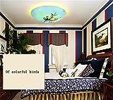ZHANGRONG-plafoniere per bambini-- Nostalgic retro dipinto a mano uccello casa camera da letto disimpegno anziano cinese rotonda soffitto LED --Efficiency:A+++ ( Colore : La luce gialla )