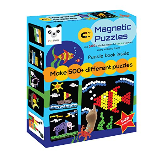 Play Panda Magnetic Puzzles : Circles (500 Magnets) (Medium)