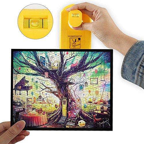 YOSPOSS-Picture Hängendes Werkzeug, Level Bild Hängend, Hang & Level Bild Hängendes Werkzeug, Gelb, Hang It Perfekt macht Frame Hängend einfach und schnell! (1)