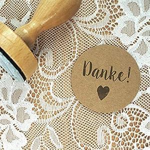 Stempel Hochzeit - Danke! - Serie: Konfettiherz - Danksagungen