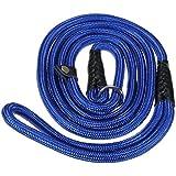 """Pixnor 150cm 59"""" cane resistente Nylon regolabile ciclo formazione guinzaglio Slip collare piombo trazione corda (blu)"""