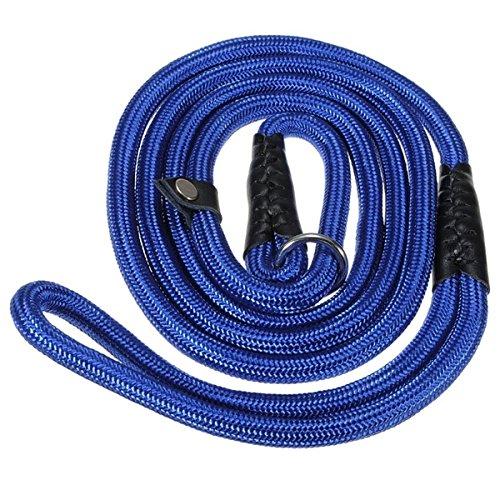 """Clicca sull'immagine per la visualizzazione estesa Pixnor 150cm 59"""" cane resistente leine/ Nylon regolabile ciclo formazione guinzaglio Slip collare piombo trazione corda (blu)"""