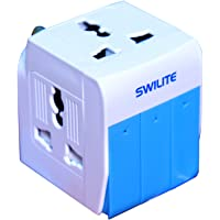 Swilite Multi Plug with 3 Switches 3 Sockets and Indicator (Blue and White)