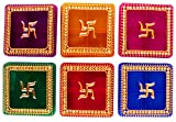 Bombay Haat Set of 12 Multi-color Designer Haldi Kumkum Boxes / Tilak Boxes for Gifting / Wedding Return Gift
