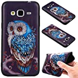 Samsung Galaxy J3 (2016) Case Cover, Ecoway Fashion painting pattern Soft Silicone Case Protective Cover Cell Phone Case for Samsung Galaxy J3 (2016) - owl