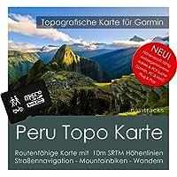 Peru Garmin Karte TOPO 8 GB microSD. Topografische GPS Freizeitkarte für Fahrrad Wandern Touren Trekking Geocaching und Outdoor. Navigationsgeräte, PC & MAC