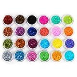 Coscelia 24 Couleur Brillant Paillettes Nail Art Poudre Acrylique Résine