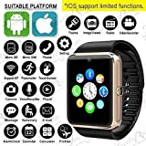 #2: Britton Smart watch for men bluetooth smart watch wristwatch supports sim and memory card mp player camera easy connectivity sleep monitor whatsapp facebook internet for all android mobiles and apple ios iphone smartphones BR-SMT-010