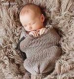 Creative Mutter Weihnachten Cocoon Schlafsack für Neugeborene Jungen Mädchen Baumwolle Strick Crochet Fotografie Prop (grau)