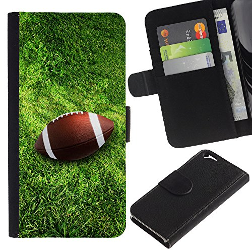 Graphic4You Amerikaner Fußball Football Sport Design Brieftasche Leder Hülle Case Schutzhülle für Apple iPhone 6 / 6S Design #3
