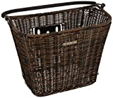 Basil Fahrradkorb Basimply Ii-Rattan Look, Brown, 37 x 25 x 29 cm